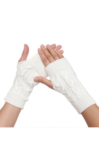 Women's Solid Knitted Arm Warmers
