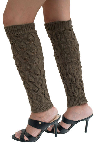 Women's Round Knitted Pattern Leg Warmers
