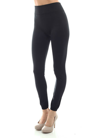 Women's Regular Solid Color Fleece Leggings