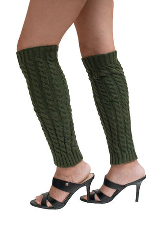 Women's Vertical Knitted Pattern Leg Warmers
