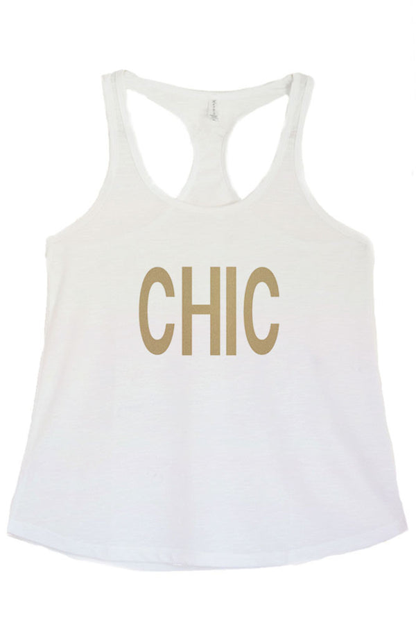Women's Regular CHIC Printed Graphic Polyester Tank Top