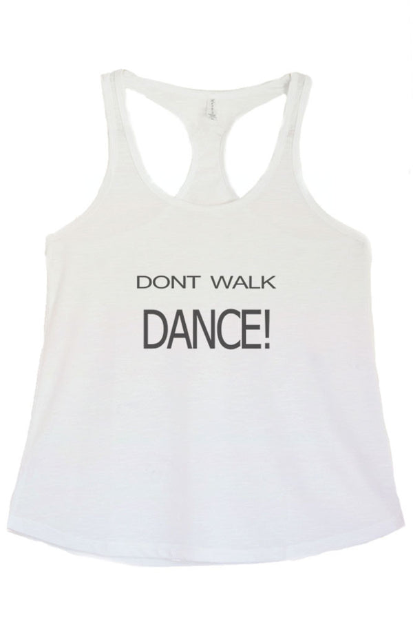 Women's PLUS Don't Walk Dance Printed Graphic Polyester Tank Top