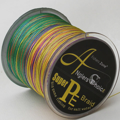 Anglers Choice Brand Super Strong Japanese 500m Multifilament PE Material Braided Fishing Line  10 20 30  80 100LB Multicolor
