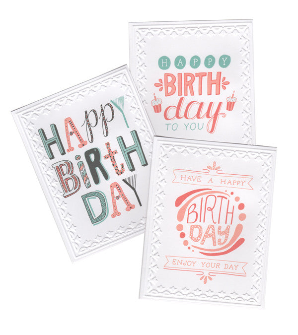 Hand-Lettered Birthday Cards - Set of 5