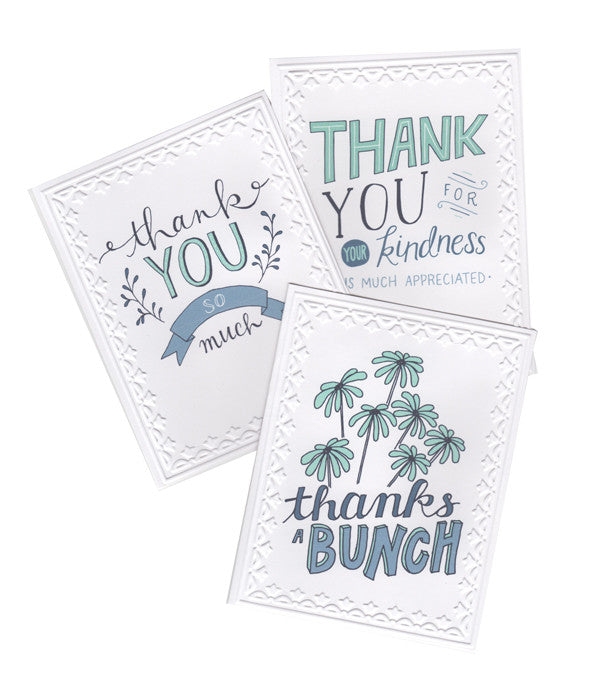 Hand-Lettered Thank You Cards - Set of 5