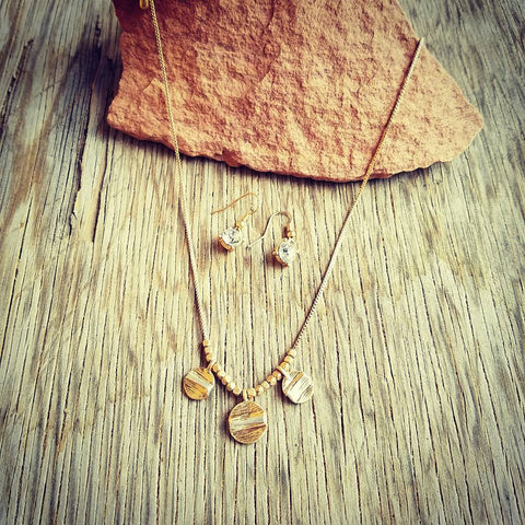 Delicate Gold Wrapped Disk Necklace