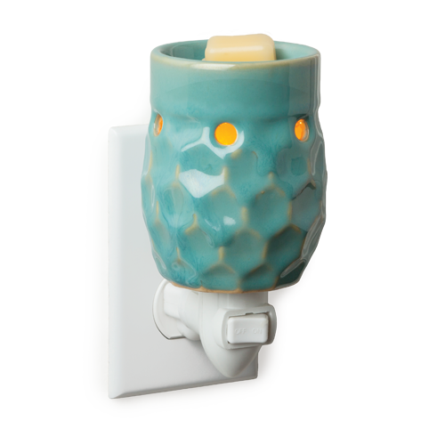 Candle Warmers Honeycomb Turquoise Pluggable Fragrance Warmer