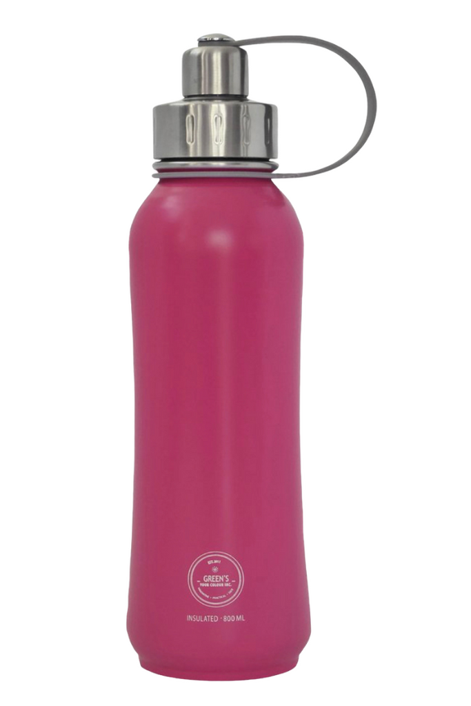 Green's Your Colour Triple Insulated 800ml Stainless Steel Bottle-Poppin' Pink