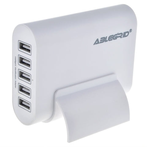 Lots of ABLEGRID® 5V 10A 50W 5-Port USB Charger Travel Desktop Adapter Rapid Charging for Apple iPhone 6S, 6S Plus,iPad Air, mini,Samsung Galaxy S6, Edge, Plus and Many Other Devices