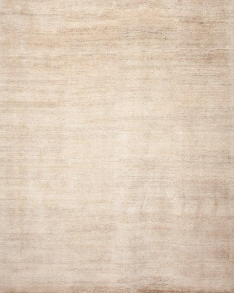 Plain Beige 8x10 Wool/Silk
