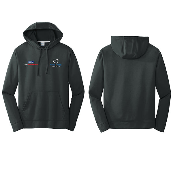 Roush Yates Engines Black Performance Fleece Hoodie with embroidered logos