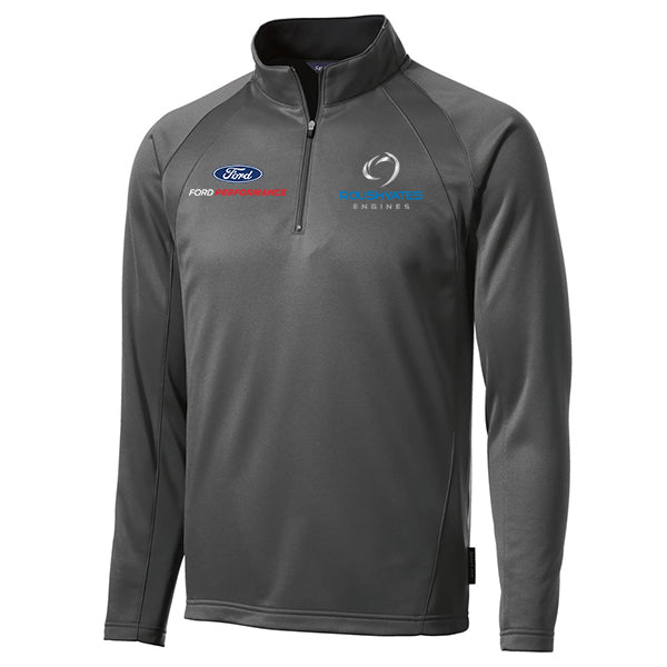 Roush Yates Engines Fleece 1/4-Zip - Dark Smoke