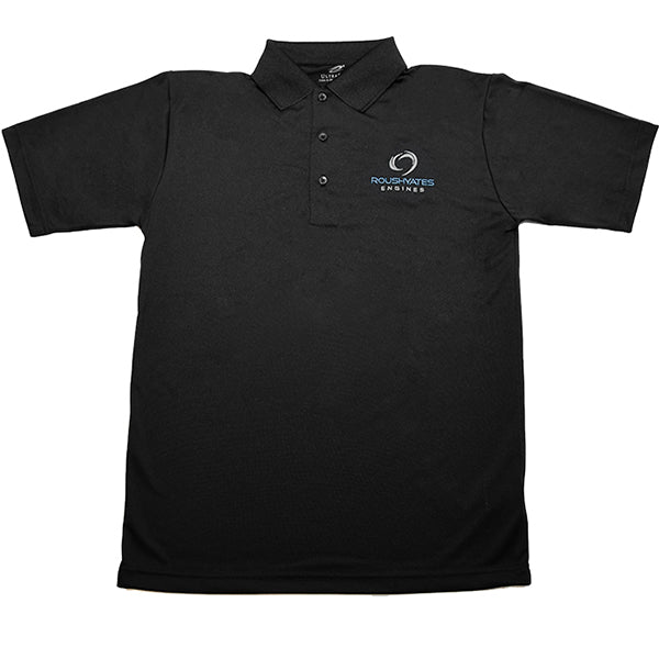 Roush Yates Engines Embroidered Polo - Black