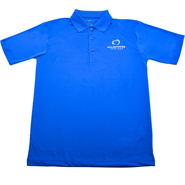 Polo shirt _ blue with white Roush Yates Engines embroidered on left hand side