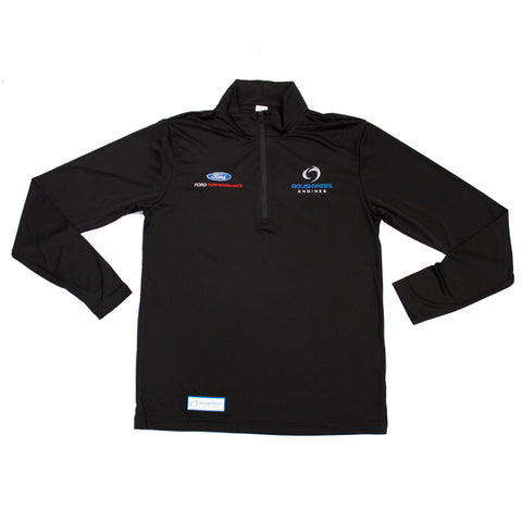 RACE DAY QUARTER ZIP - BLACK