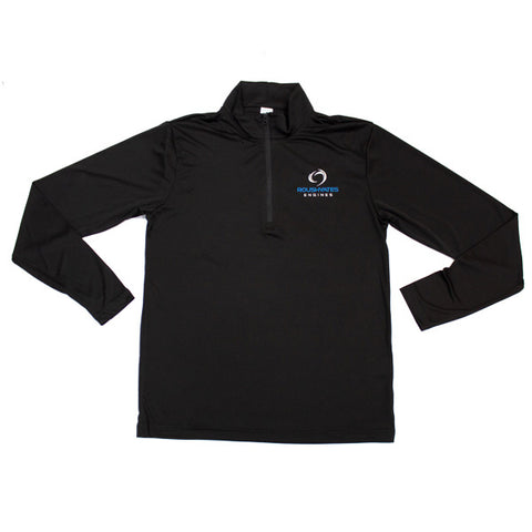 LADIES RACE DAY QUARTER ZIP - BLACK
