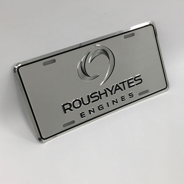 ROUSH YATES ENGINES LICENSE PLATE - CHROME