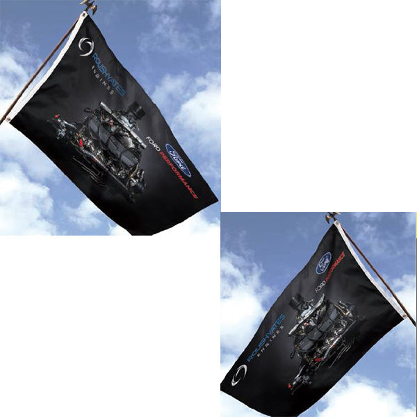 Flag_Roush Yates Engines NASCAR FR9 engine flag, two-sided 3' X 5' in black, printed both sides