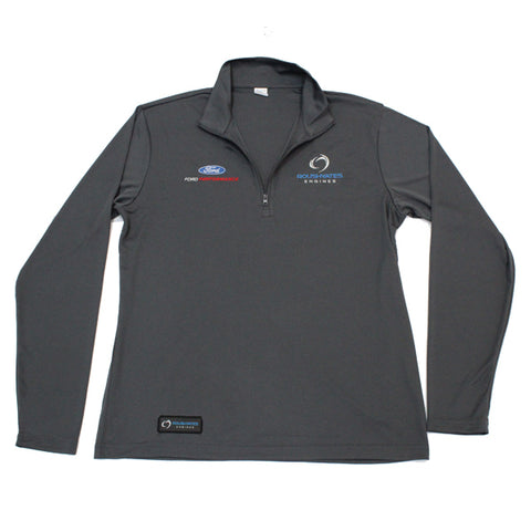 RACE DAY QUARTER ZIP - CONCRETE GREY