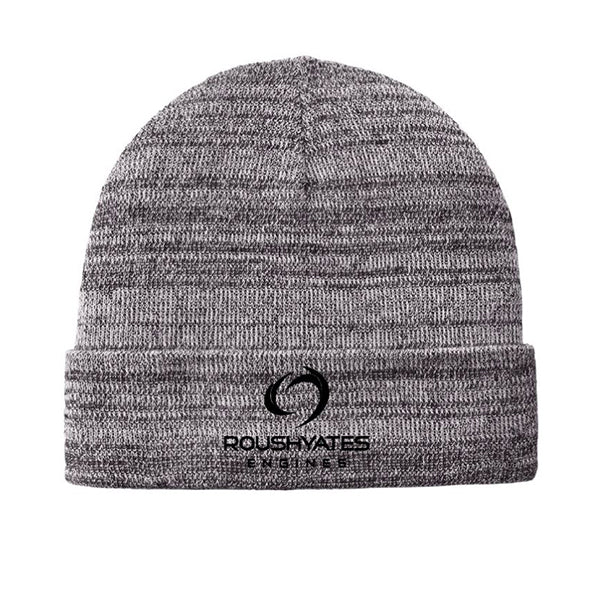 Heather grey knit cuffed beanie