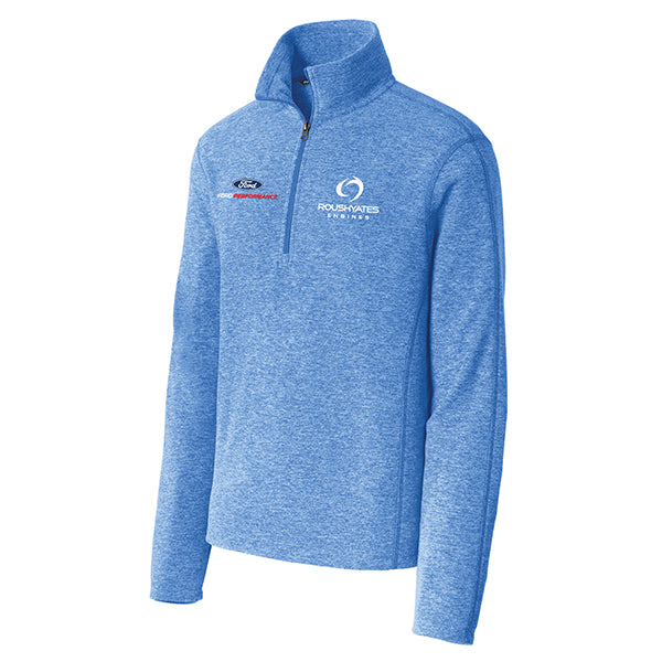 ROUSH YATES ENGINES MICROFLEECE 1/2-ZIP PULLOVER - ROYAL HEATHER