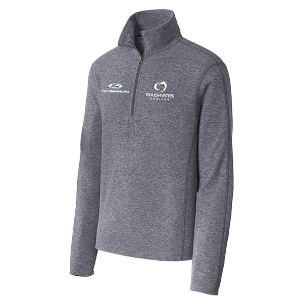 ROUSH YATES ENGINES MICROFLEECE 1/2-ZIP PULLOVER - TRUE NAVY