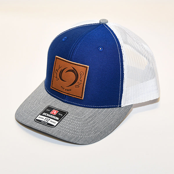 ROUSH & YATES LEATHER PATCH HAT - BLUE / GREY