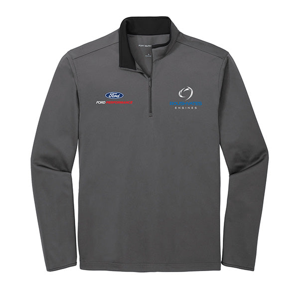 PERFORMANCE QUARTER ZIP - STEEL GREY