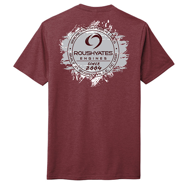 WHERE HORSEPOWER LIVES T-SHIRT, MAROON