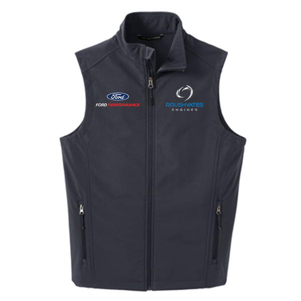 ROUSH YATES ENGINES SOFT SHELL VEST -  BATTLESHIP GREY