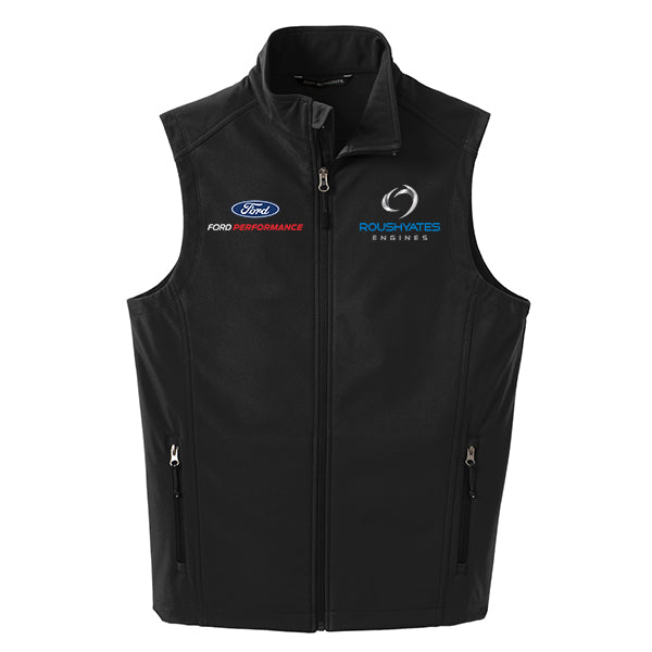 ROUSH YATES ENGINES SOFT SHELL VEST - BLACK
