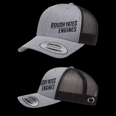 Heather & Black Hat with slated Roush Yates Engines  script
