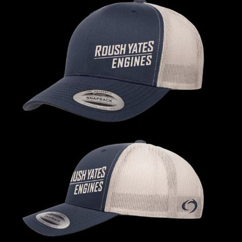 Navy & Silver Hat with slated Roush Yates Engines  script