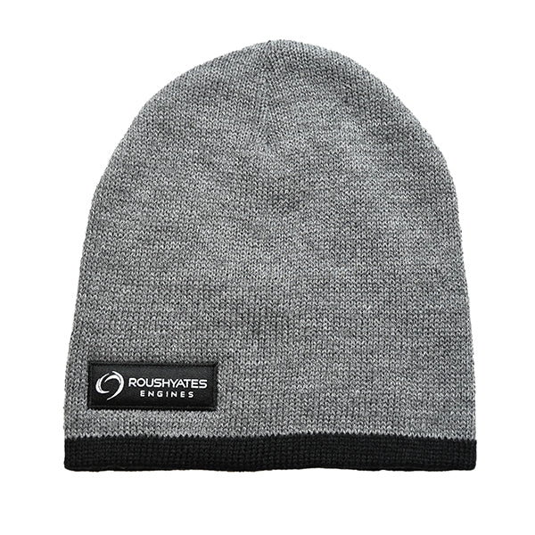 Roush Yates Engines Grey Toboggan Hat with black sewn on  company logo