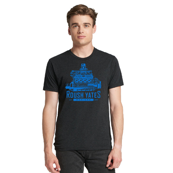 RETRO ENGINE T-SHIRT, BLACK