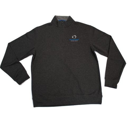 DUAL-COLOR QUARTER ZIP SWEATSHIRT
