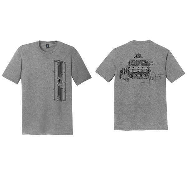 VALVE COVER T-SHIRT - GREY FROST