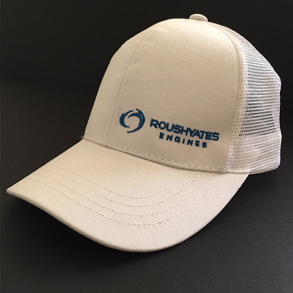 Roush Yates Engines Ponytail Hat - White & Blue