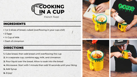 French Toast Recipe Cooking in a Cup Dorm Friendly Recipe