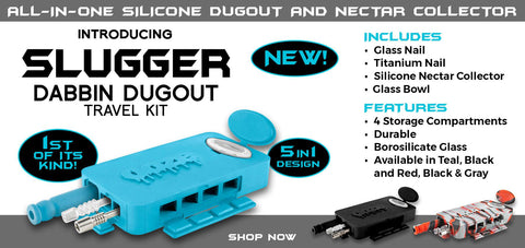 Hit a home run with the ooze slugger dabbin dugout silicone extract travel kit concentrates nectar collector