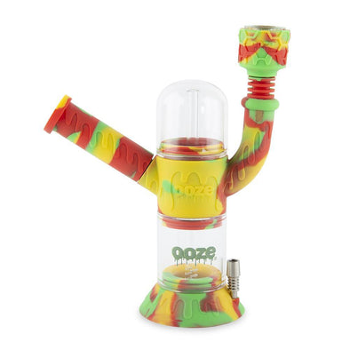 Ooze Cranium Silicone Water Pipe & Nectar Collector - Rasta Pipes