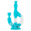 Echo Silicone Water Pipe & Nectar Collector - Aqua Teal