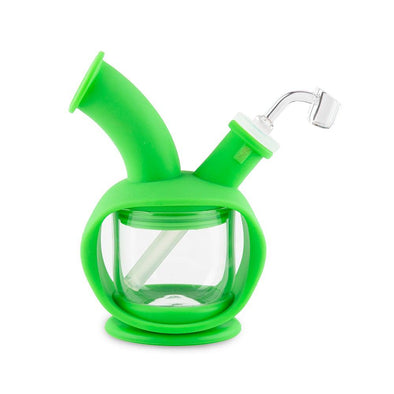 Ooze Kettle Silicone Bubbler - Green