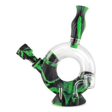 Ozone Silicone Water Pipe & Nectar Collector - Chameleon