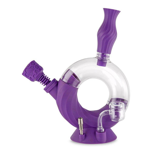 Ozone Silicone Water Pipe & Nectar Collector - Ultra Purple