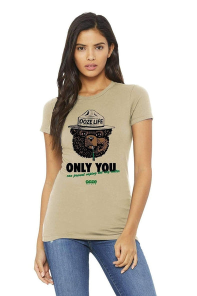 Ooze Smokey Bear Womens T-Shirt T-Shirts