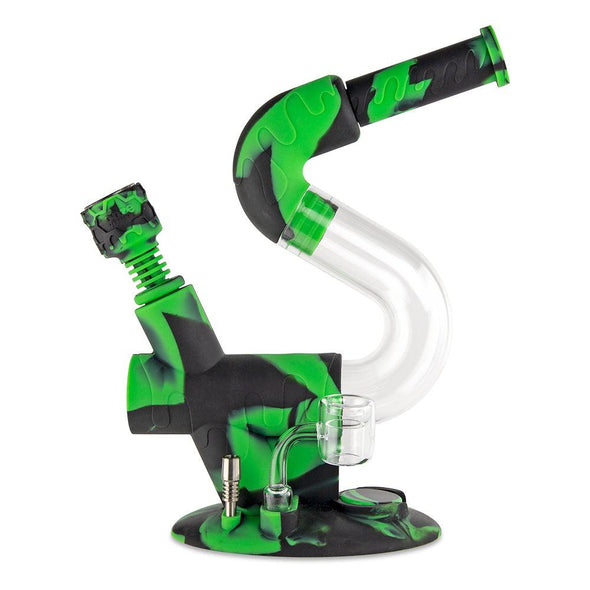 Swerve Silicone Water Pipe & Nectar Collector - Chameleon
