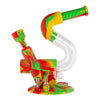 Swerve Silicone Water Pipe & Nectar Collector - Rasta