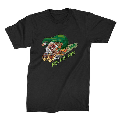 Ooze Hot Rod Santa T-Shirt T-Shirts
