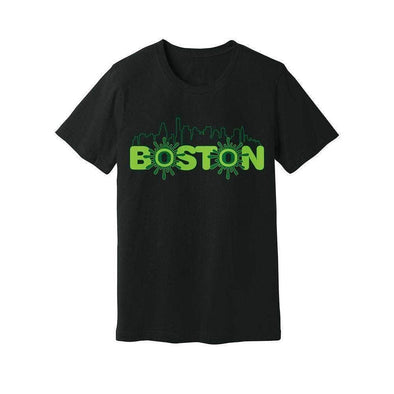 Ooze Boston Skyline Mens T- Shirt T-Shirts